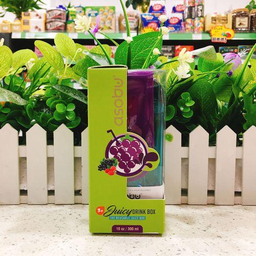 加拿大Asobu防摔宝宝儿童水杯 吸管杯300ml(紫色)