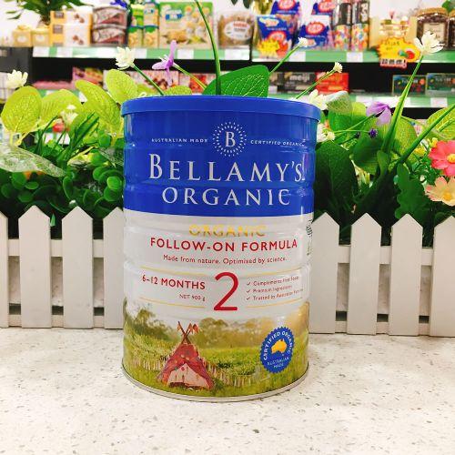 澳洲Bellamys贝拉米2段有机婴儿牛奶粉900g(6-12个月)新包装