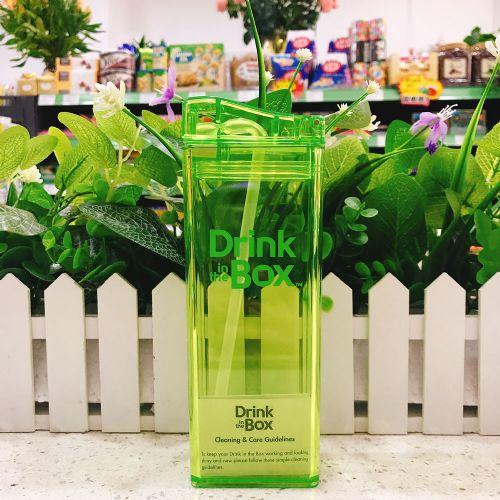 加拿大 DRINK IN THE BOX宝宝儿童防漏果汁水壶吸管杯(绿色)355ML