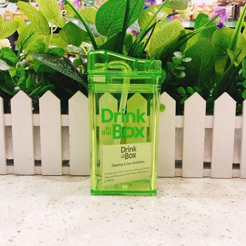 加拿大 DRINK IN THE BOX宝宝儿童防漏果汁水壶吸管杯(绿色)235ML