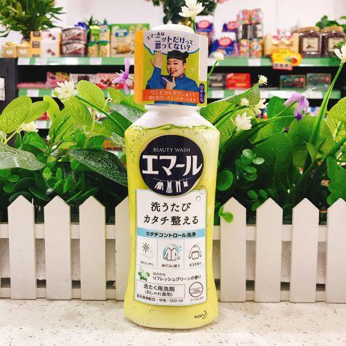 日本花王超浓缩中性洗衣液(清新花香)500ml