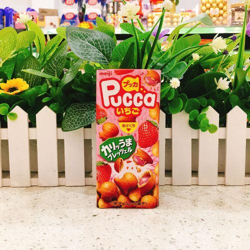日本明治草莓夹心鱼仔饼39g(盒装)