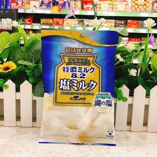 日本UHA悠哈味觉糖8.2特浓盐牛奶糖80g(袋装)