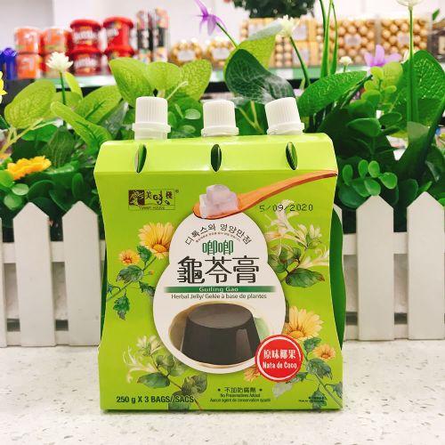 美味栈可吸椰果龟苓膏(原味)250g×3袋
