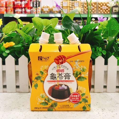 美味栈可吸椰果龟苓膏(蜂蜜味)250g×3袋