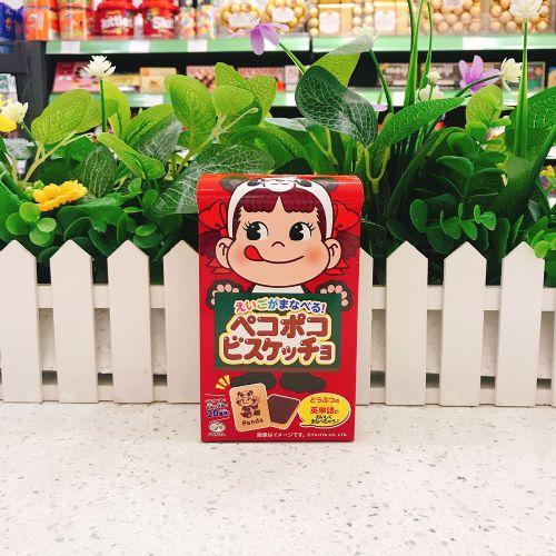 日本不二家牛奶妹英文朱古力饼干42g(盒装)