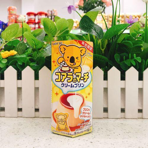 日本乐天忌廉布甸朱古力熊仔饼48g(六角盒)