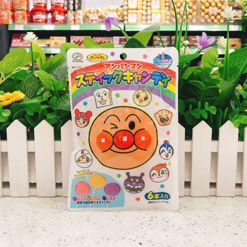 日本不二家面包超人水果棒棒糖6本入