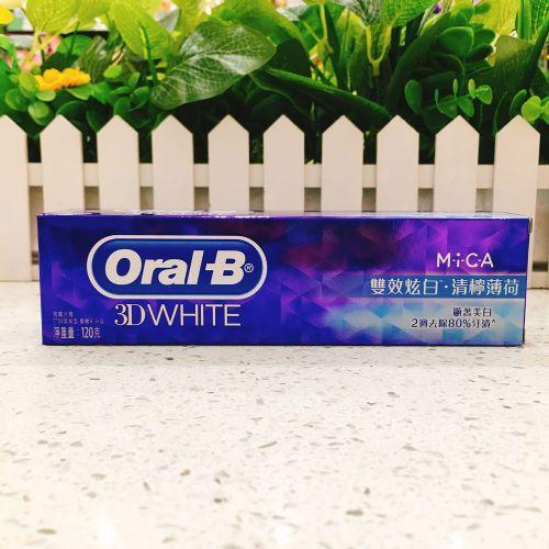 Oral-B 欧乐B双效炫白青柠薄荷牙膏120g