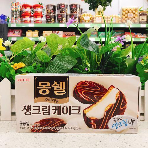 韩国乐天巧克力奶油派192g