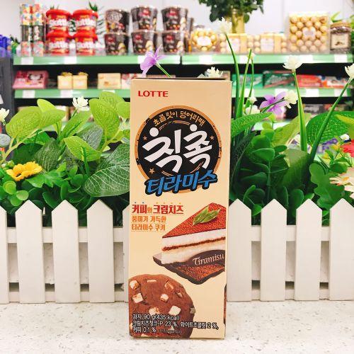 韩国乐天提拉米苏巧克力曲奇90g
