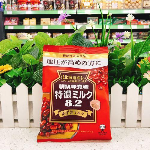 日本UHA悠哈味觉糖特浓8.2奶糖红豆味93g(袋装)