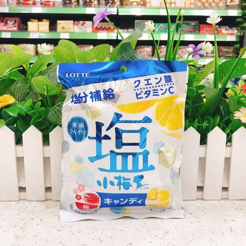 日本乐天小梅盐味糖(柠檬梅子两味)84g