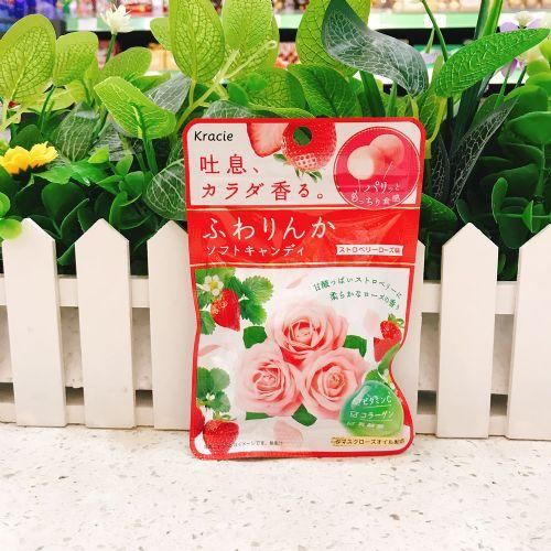 日本Kracie嘉宝娜香体糖(玫瑰草莓味)32g