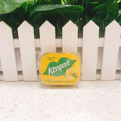Kissport无糖薄荷糖(柠檬味)16g