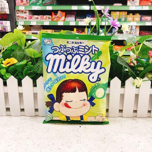 日本不二家牛奶妹粒粒薄荷牛奶糖80g(袋装)