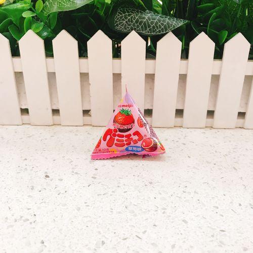 明治橡皮巧克力(草莓味)三角包10g