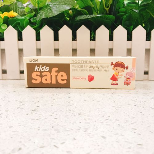韩国狮王儿童牙膏草莓90G