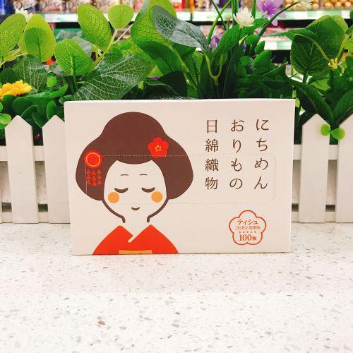 日棉织物洗脸巾-白色艺妓