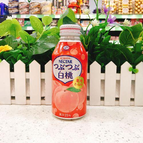 日本不二家NECTAR铝瓶装白桃汁380g