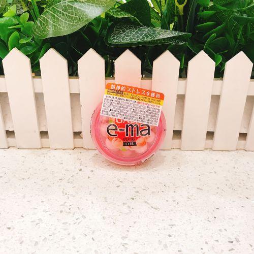 日本UHA悠哈味觉e-ma GABA白桃润喉糖33g(圆樽装)