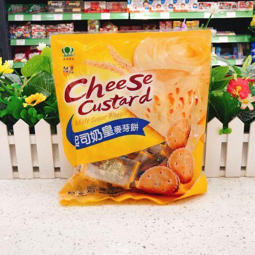 台湾�N田干酪奶皇麦芽夹心饼干250g
