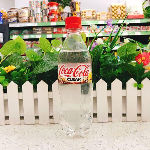日本透明柠檬味可口可乐汽水500ml
