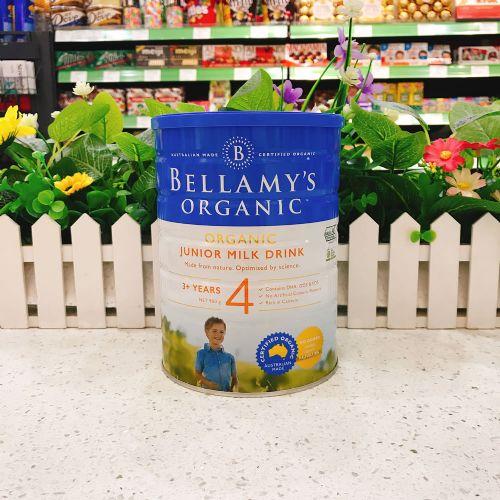 澳洲Bellamys贝拉米4段有机婴儿牛奶粉900g(3岁以上)新包装
