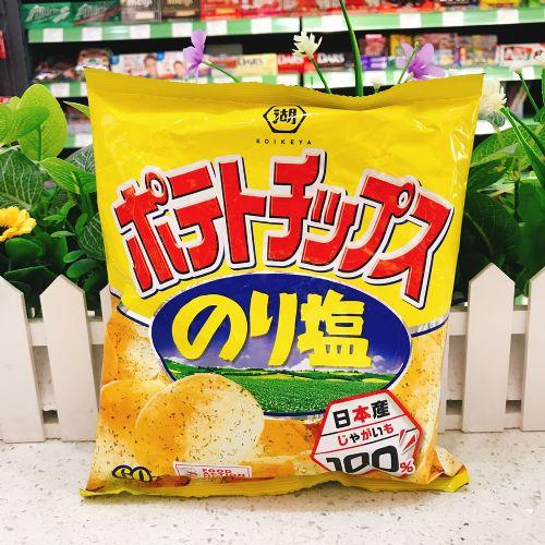 日本湖池屋海苔盐味薯片60g(袋装)