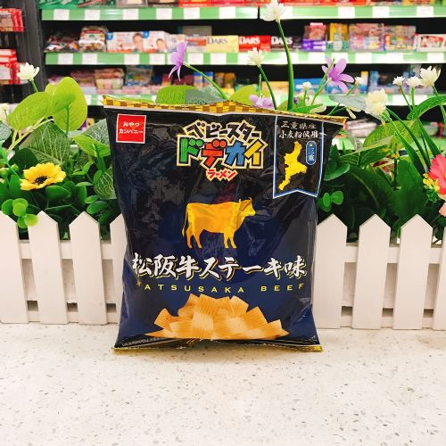 日本童星松坂牛扒味阔条脆面65g(袋装)