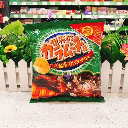 日本湖池屋阿婆台式激辛海苔薯片55g(袋装)