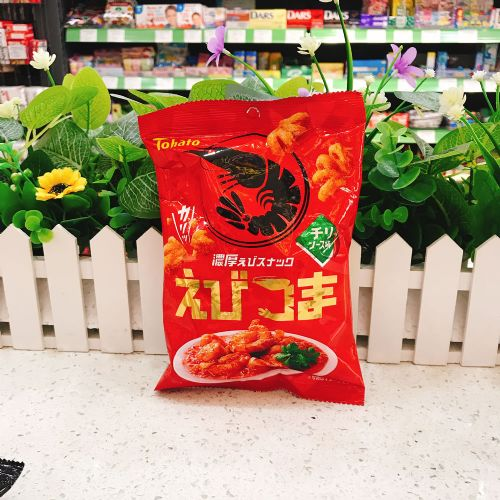 日本桃哈多浓厚辛辣虾味脆口小食45g(袋装)