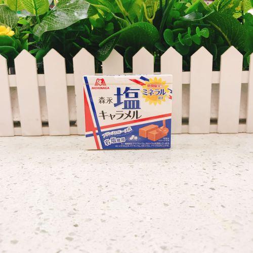 日本森永盐焦糖12粒(盒装)