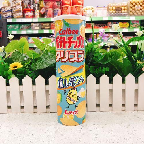 日本卡乐B盐柠檬薯片115g(筒装)