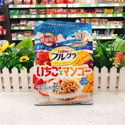日本卡乐B草莓芒果燕麦片600g(袋装)