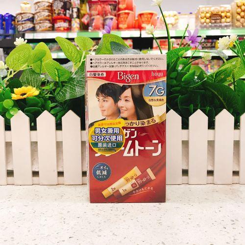 日本美源发彩可瑞慕染发膏40g(7G自然棕黑色)
