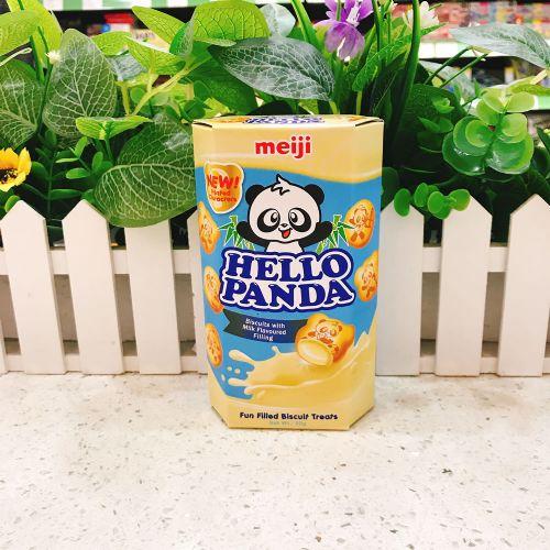 日本明治熊猫奶油夹心饼干50g