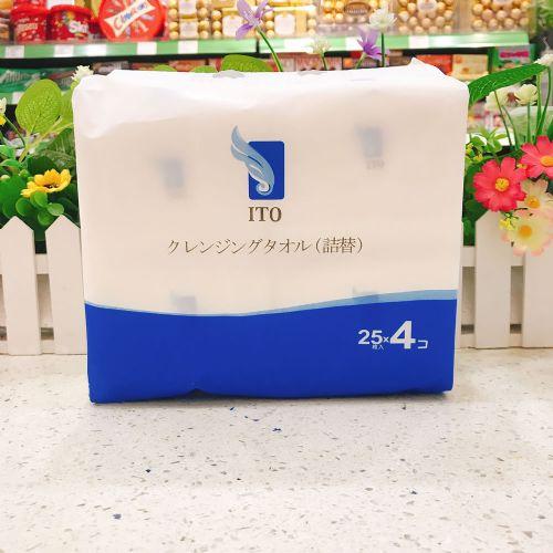 日本ITO盒装洁面巾(替换装)25条×4