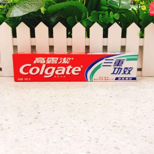 高露洁三重功效清新口气牙膏140g