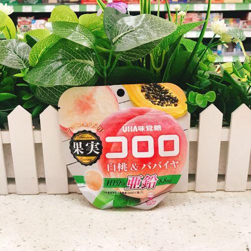 日本UHA悠哈味觉果汁软糖(水蜜桃木瓜)52g