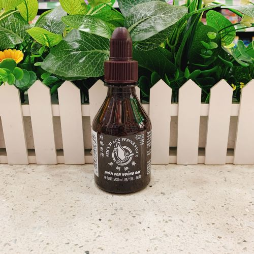 泰国飞鹅商标黑胡椒酱200ml