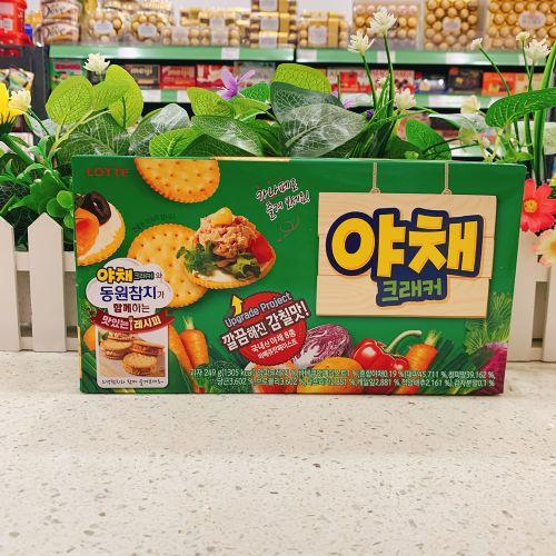 韩国乐天蔬菜梳打饼249g