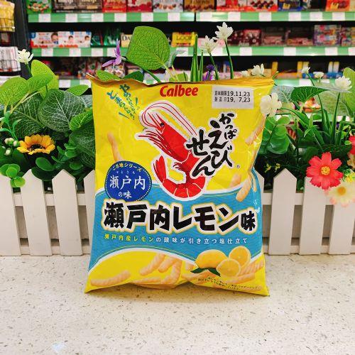 日本卡乐B 濑户内柠檬味虾条70g(袋装)