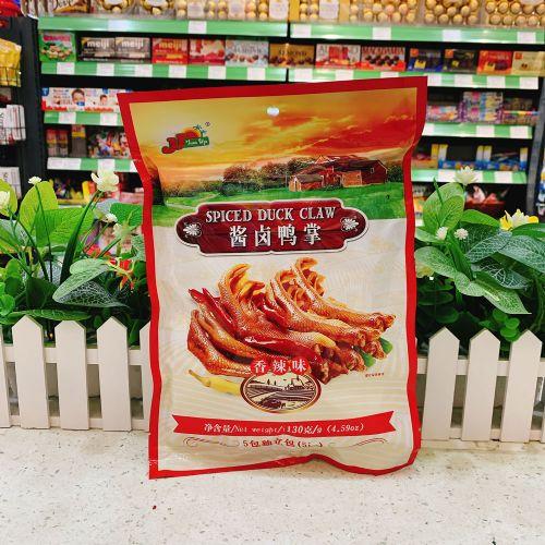 香港尊杰JJ酱卤鸭掌(香辣味)5包独立包130g
