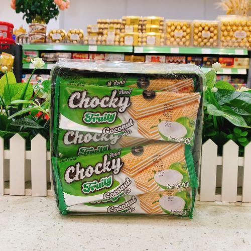 泰国CHOCKY椰子味威化饼干360g
