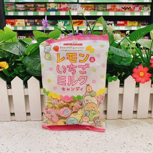日本HAYAKAWA柠檬草莓糖80g
