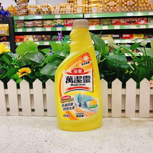 万洁灵柠檬芬芳浴室清洁喷雾500ml(补充装)