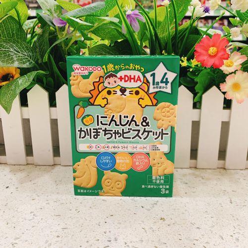 日本和光堂1岁4个月胡萝卜南瓜饼34.5g(盒装)