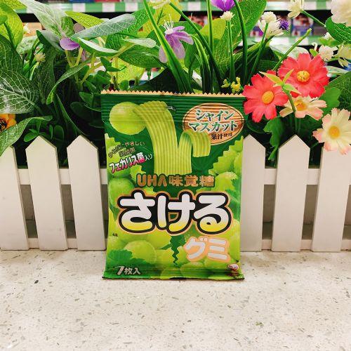 日本UHA味觉青提子扁带糖7枚(袋装)