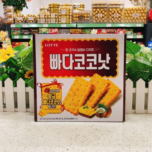韩国乐天椰奶饼干300g